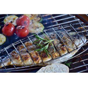 Σχάρα Ψησίματος BBQ για Ψάρια Μεγάλη επιχρωμιωμένη σχάρα