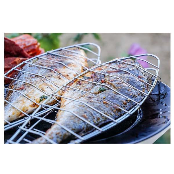 Σχάρα Ψησίματος BBQ για Ψάρια Μικρή επιχρωμιωμένη σχάρα
