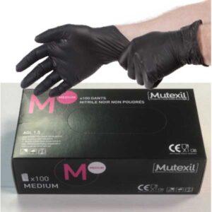 Γάντια Νιτριλίου Μαύρα MUTEXIL mutexil