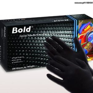 Γάντια νιτριλίου μαύρα γάντια