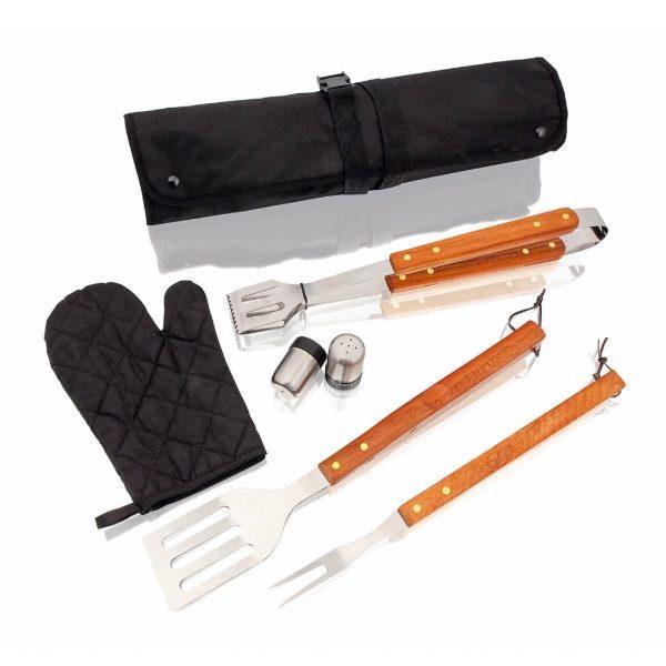 Ποδιά BBQ με 3 εργαλεία εργαλεία μπάρμπεκιου