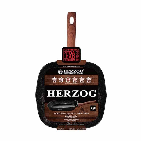 Τηγάνι Αντικολλητικό για Μπριζόλες 28 cm Herzog HR-GRL28W αντικολλητικό τηγάνι