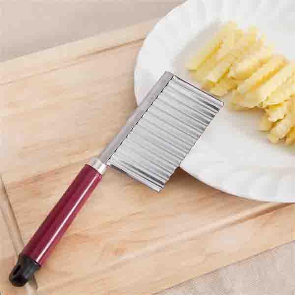 Κόφτης Λαχανικών – Πατάτας Ζιγκ Ζαγκ με  Λαβή εργαλείο κοπής λαχανικών