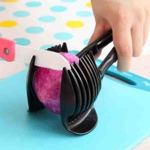 Λαβίδα με οδηγό κοπής λαχανικών σε φέτες εργαλείο κοπής λαχανικών