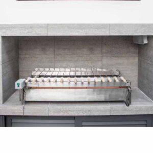 Ανοξείδωτη Ψησταριά Φουκού AIANTAS με μανέλα 100X50 εκ ΑΙΑΝΤΑΣ