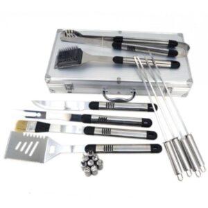 Σετ Μπάρμπεκιου με 18 Ανοξείδωτα Εργαλεία εργαλεία gas