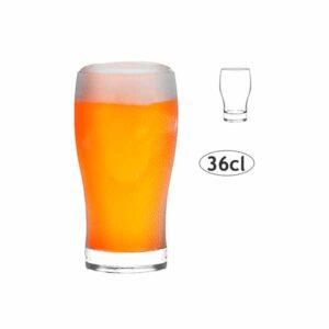 Γυάλινο ποτήρι μπύρας γεμισμα