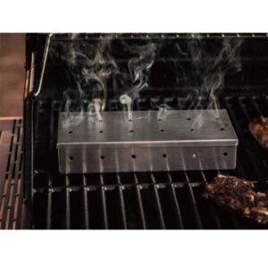 Ανοξείδωτο κουτί για κάπνισμα κρέατος σε ψησταριά bbq